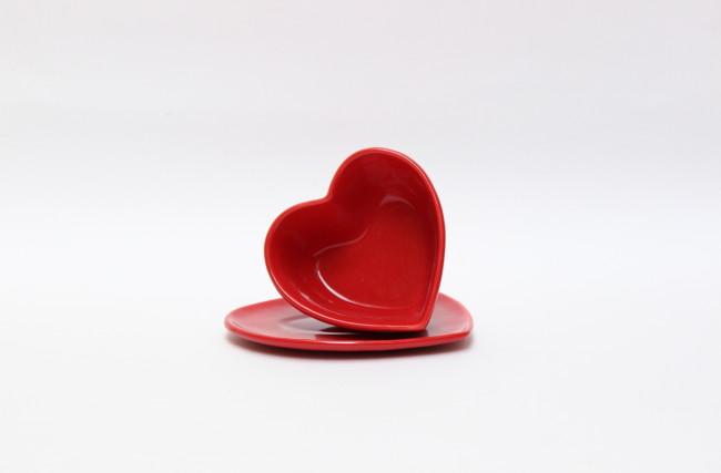 Bowl coração com pires Vermelho – SC