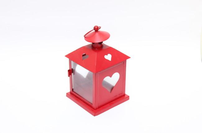 Lanterna Coração M Vermelha