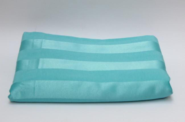 Tecido adamascado listado Azul Tiffany