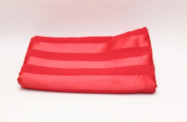 Tecido adamascado listado Vermelho