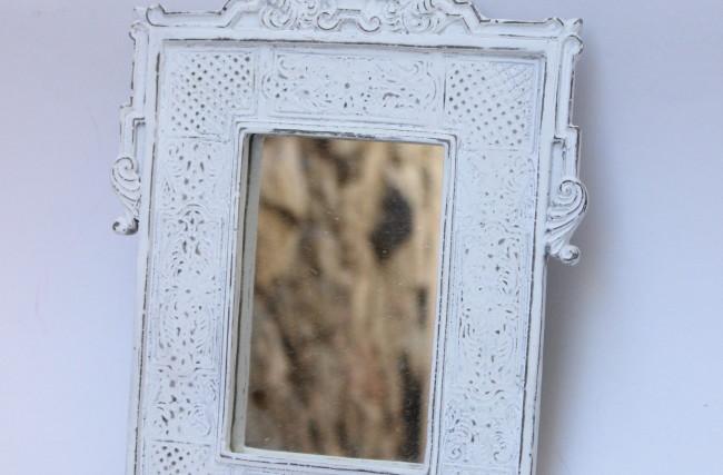 Moldura espelho Branca gesso