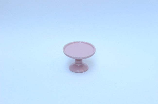 Prato para Bolo Rosa ASC