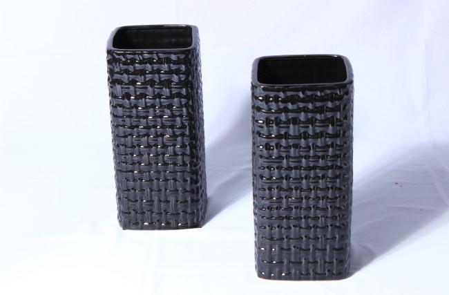 Vaso cerâmica Preto