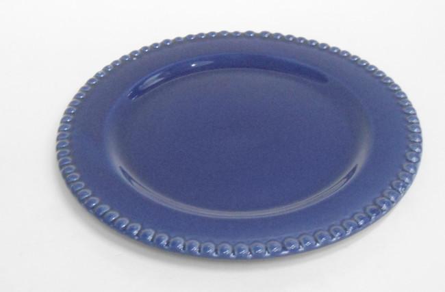 Prato sobremesa bolinha Azul Royal – SC