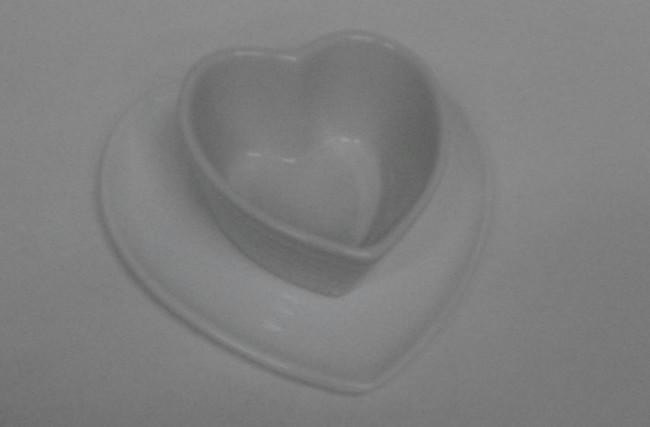 Bowl coração com pires Branco – SC