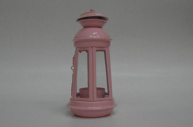 Lanterna Metal Rosa bebê