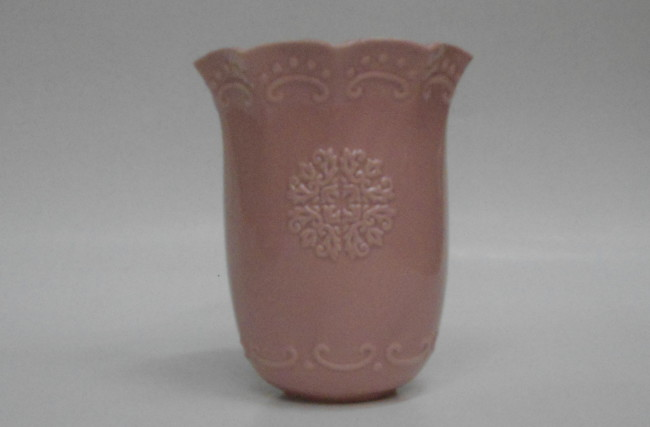 Vaso cerâmica Rosa