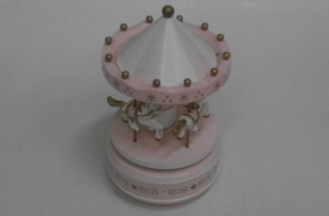 Caixa de música Rosa bebê