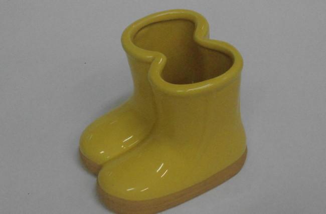 Botinha Vaso Amarela