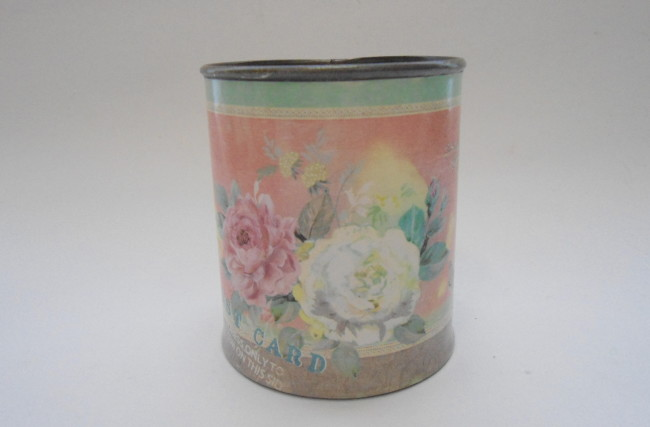 Latinha cotage Floral Rosa ASC