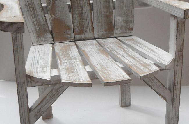 Cadeira Branco lixado