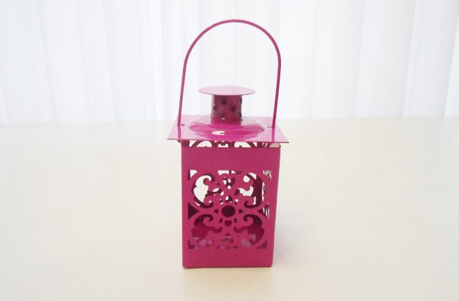 Mini lanterna Rosa pink