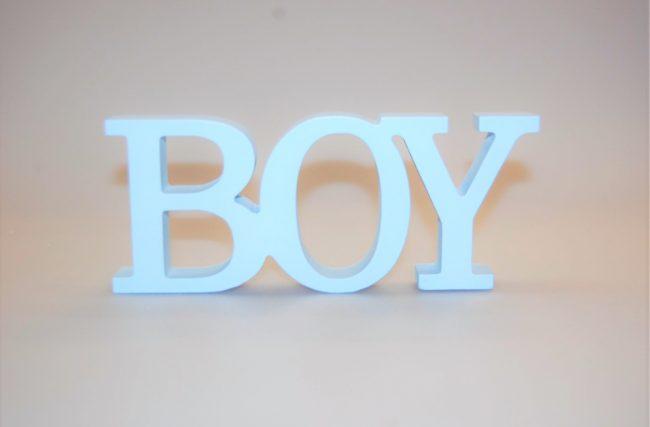Placa Boy Azul bebê