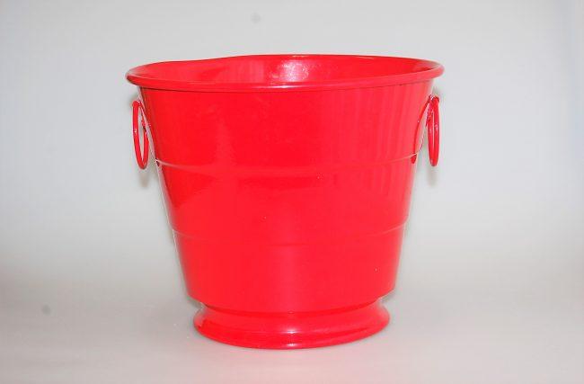 Balde gelo Vermelho