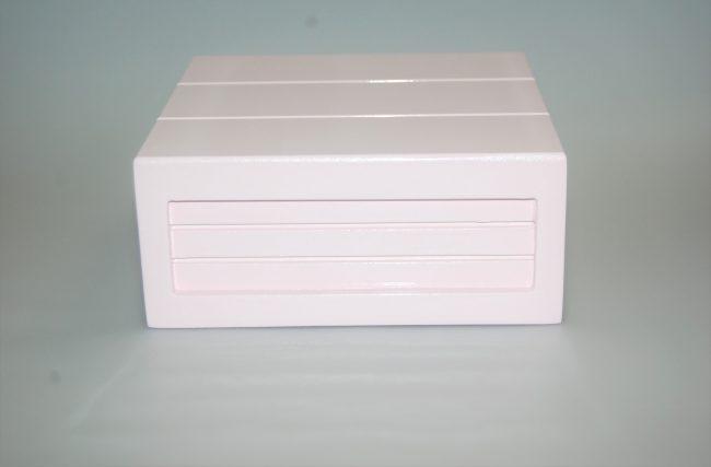 Caixa Container Rosa Bebê