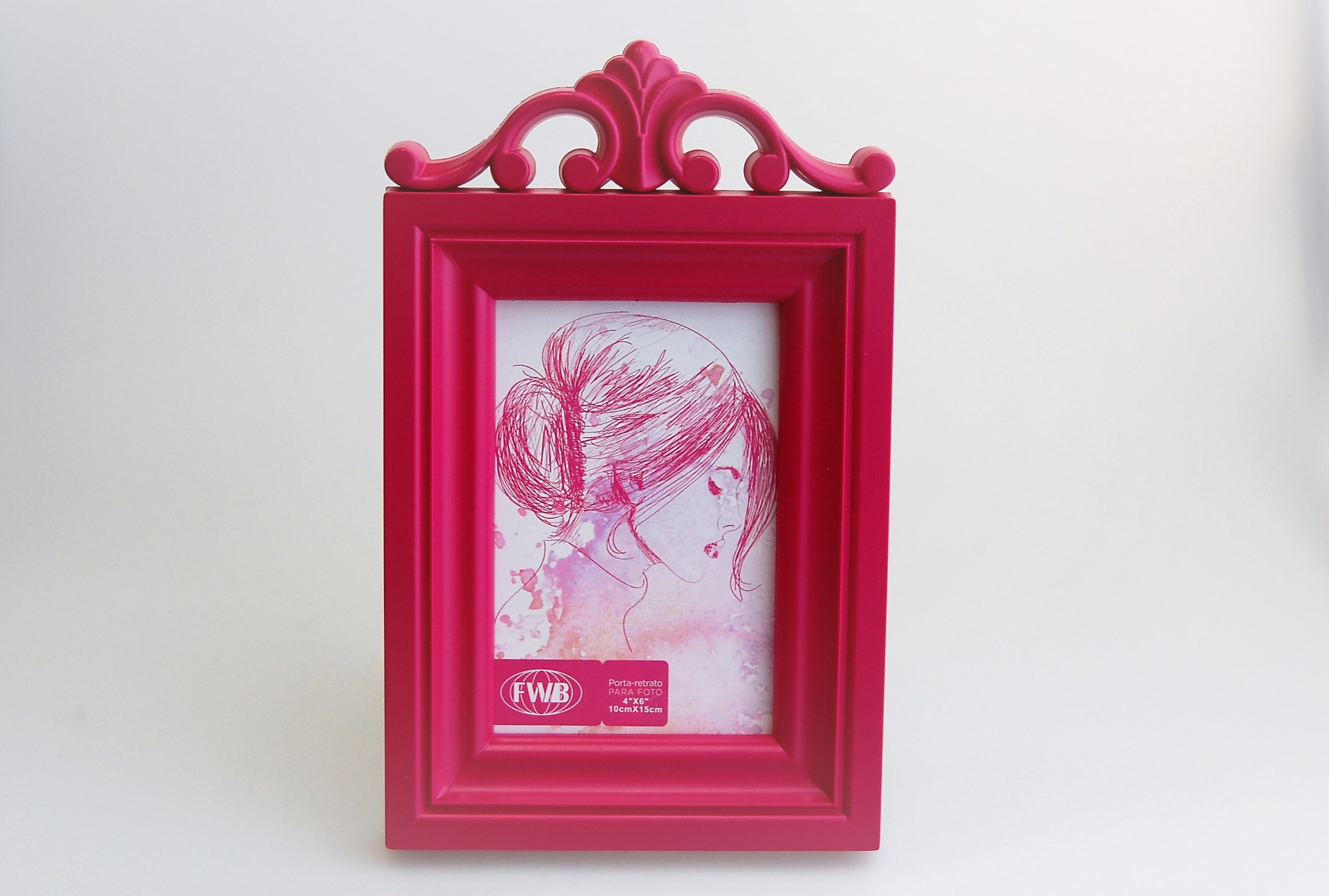 Porta Retrato Pink Festejar E Receber