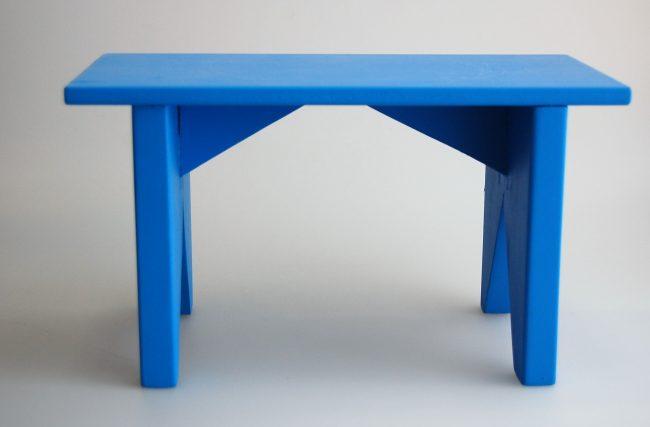 Banqueta retangular Azul Vivo