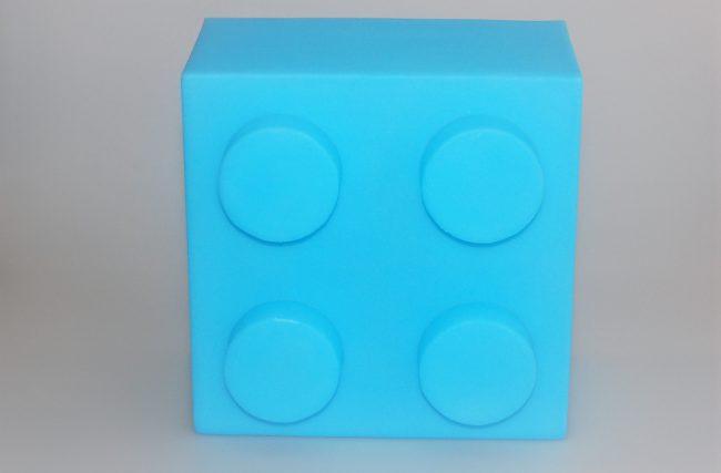 Luminária Lego Azul